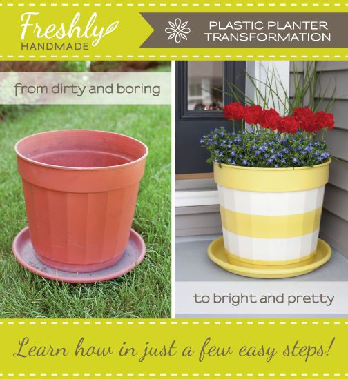 Freshly Handmade: Summer Spruce Up: Painted Planter Tutorial