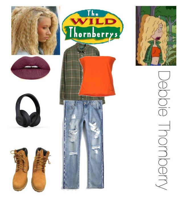 """""""Debbie Thornberry costume"""" by obsessed-with-bands ❤ liked on Polyvore featuring Gitman Bros. Vintage, Timberland and Beats by Dr. Dre"""
