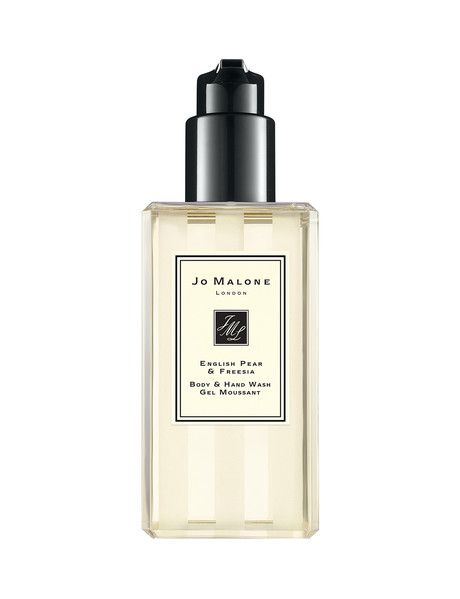Our refreshing Body & Hand Wash with meadow foam seed gently cleanses and deliciously scents your skin with golden English Pear & Freesia.