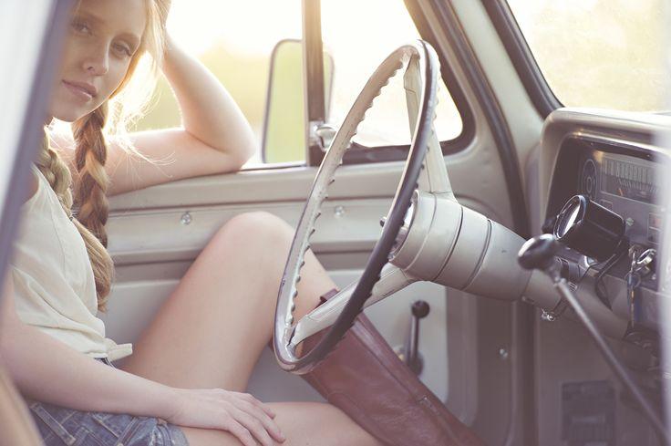 Caucasian woman driving car - Caucasian woman driving car