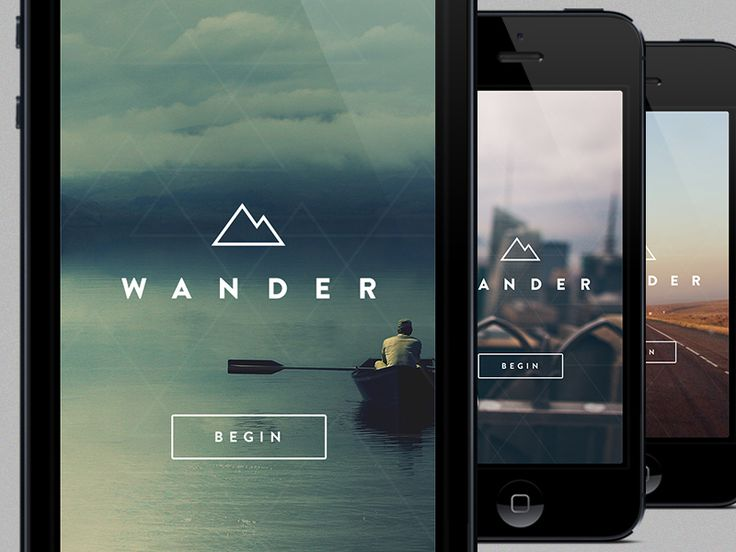 Just a peek at the start screen for an app I've been playing with. It's about sharing travel/adventure experiences.   Photo credits: No idea...found these all on wallbase.cc, but obviously wouldn't...