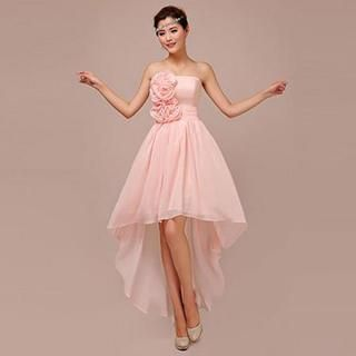 Buy 'Lotus Bride – Strapless Rosette High-Low Cocktail Dress' with Free Shipping at YesStyle.com.au. Browse and shop for thousands of Asian fashion items from China and more!
