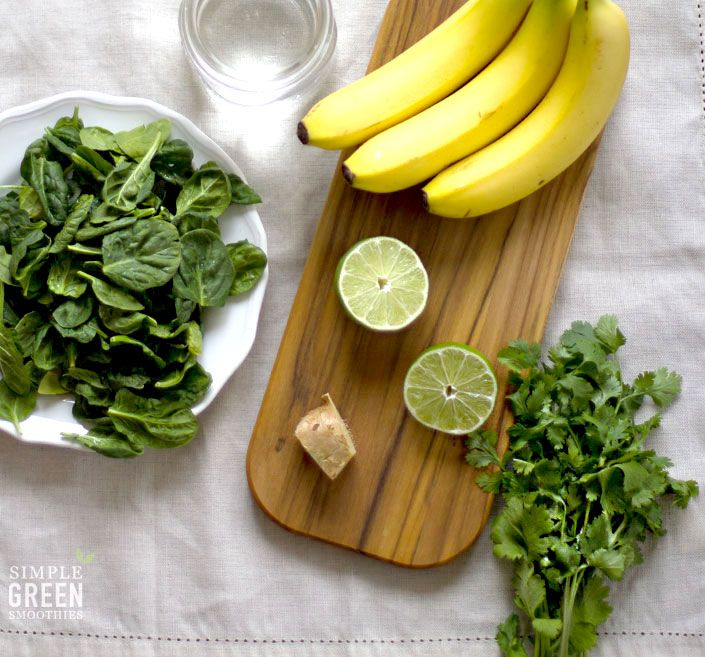 Cilantro Limeade Green Smoothie - Simple Green Smoothies