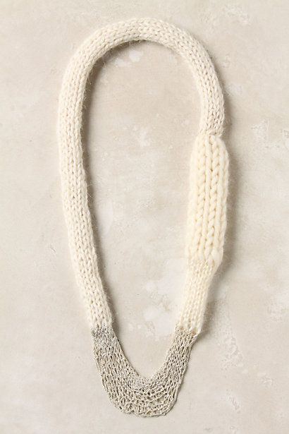 Another necklace I could wear (if it weren't wool).  I don't particularly care…