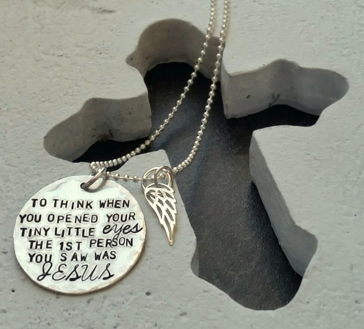 To Think When You Opened Your Tiny Little Eyes Stamped Necklace ~ Miscarriage, Stillbirth, Infant and Child Loss Jewelry ~ ROB-MSM