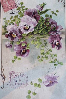Pansies: Vintage Postcards, Vintage Wardrobe, Vintage Floral, Old Postcards, Vintage Pansies, Make Cards, Pansies Vintage, Vintage Flowers, Vintage Cards