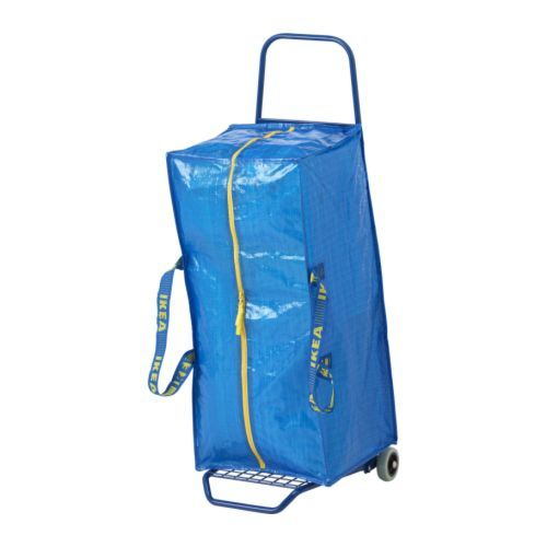 FRAKTA Hand cart with storage bag IKEA Can be used to transport your purchases, or heavy things in your home.
