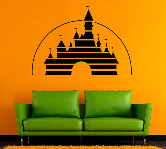 Castello Disney Castle Wall Sticker Vinyl Decal Disneyland stickers da parete in vinile /5dxz/ Decor