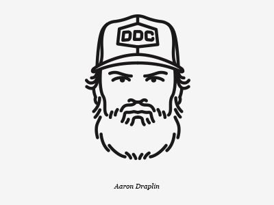 Dribbble - Aaron Draplin Avatar by Michael Nÿkamp: Direction + Design + Illustration
