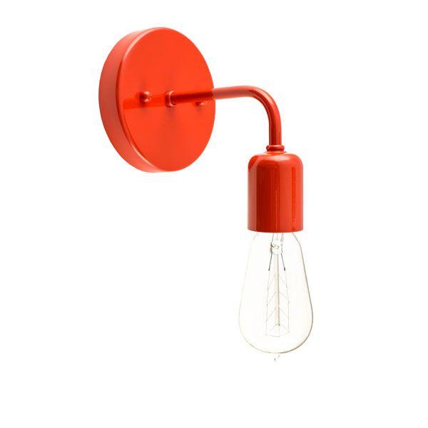 Downtown Minimalist Sconce, Colorful Wall Light | Barn Light Electric #orange #lighting