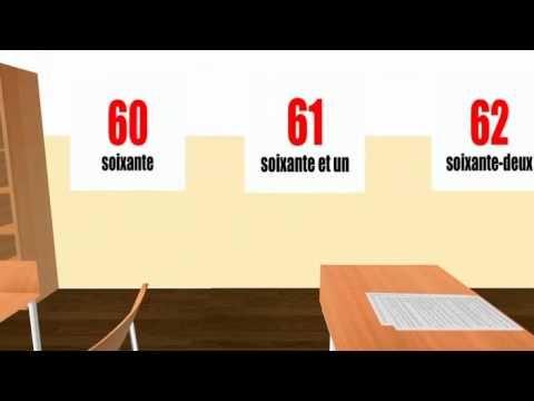 ▶ [French in 3D classroom] #Les chiffres et les nombres - YouTube