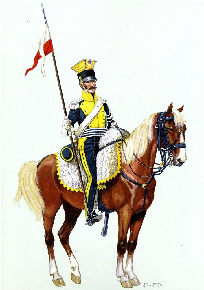 Vistula Legion Uhlan forme.1812 in the service.
