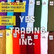 34d94ed4 PRO CLUB HEAVYWEIGHT T SHIRTS ProClub Plain Short Sleeve Mens Big and Tall  S-5XL