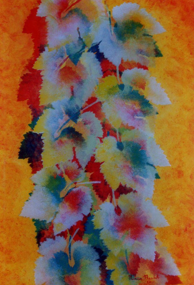 #quadriacrilici#marinamarchetti#serie foglie#colore#fantasia