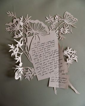 I am never going to write you an exacto-carved letter. Only because by the time I am done I will have nothing nice to say to you.: Paper Cut, Jefferi Rudel, Thanks You Note, Paper Art, Note Cards, Cut Paper, Letters Writing, Paper Crafts, Cut Outs