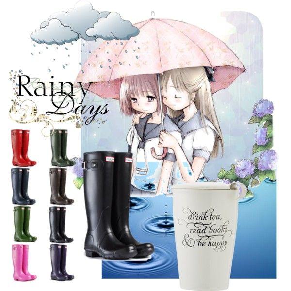 """Hunter Wellington Rain Tall Boots"" by planetkidsandwomen on Polyvore $84.99 Ebay"
