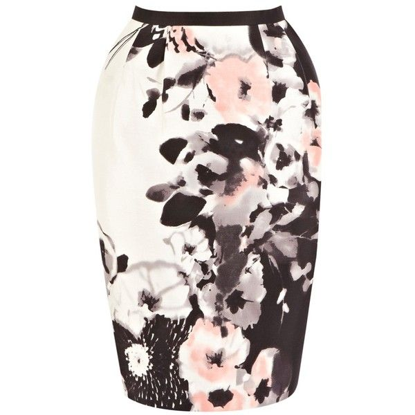 Coast Alize Printed Skirt, Multi (2.795 RUB) ❤ liked on Polyvore featuring skirts, bottoms, gonne, suknje, silk pencil skirt, flower print skirt, coast skirts, floral print skirt and flower print pencil skirt