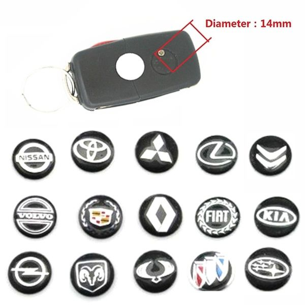 5pcs Lot 14mm 0 55 Car Key Fob Badge Stickers Radio Button