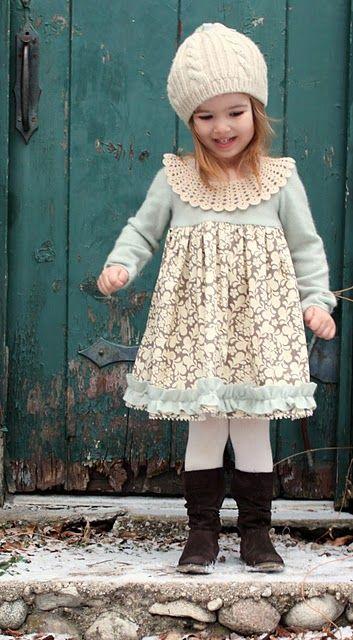 smile..Little Girls, Dress Tutorials, Dresses Tutorials, Clothing, Winter Wonderland, Winter Outfit, Kids, Wonderland Dresses, Winter Dresses