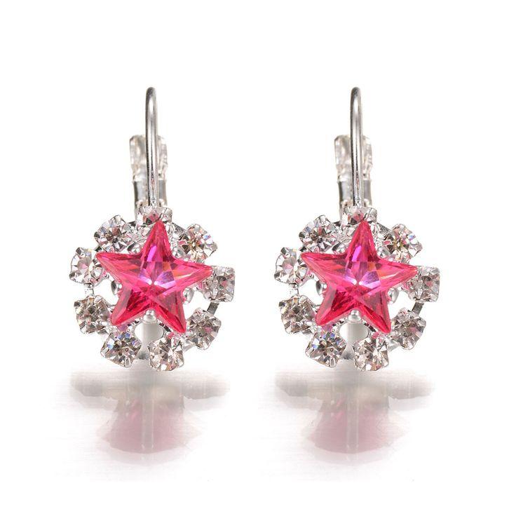Xmas Gift Zircon Crystal Star Rhinestone Earrings f961d29492a9