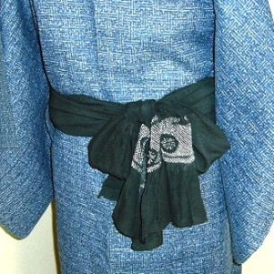034 兵児帯(男性) - Heko obi used for [ yet to be determined ] musubi [for male] ? ~ How to tie, see underlined link in original post, or: http://www.hansokubu.com/ai/034.pdf