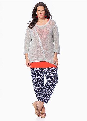 #Virtu Gigli Pullover #plussize #curvy