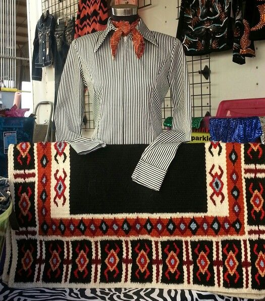 Show Diva Pinstripe Plain Shirt And Yucca Flat Saddle Pad