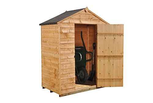 Forest ODA46NWHD 6 x 4 ft Security Overlap Garden Shed - Autumn Gold