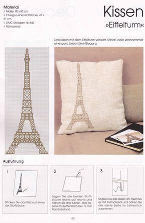 Broderat Eiffeltorn