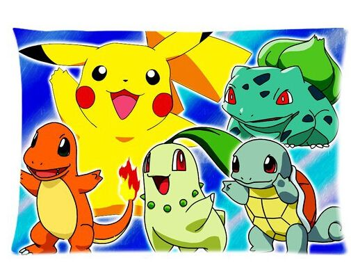 Custom Popular Pokemon Anime Pillowcase Beding Design Cotton Pillow Case 20X30 Inches