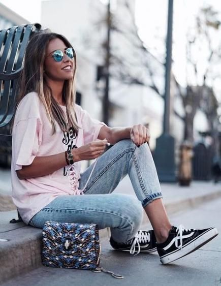 New how to wear vans girls casual Ideas | Street style summer ...