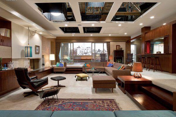 Mad Men Set Design Behind The Scenes Retro Living Rooms Interior Design Mid Century Modern Design