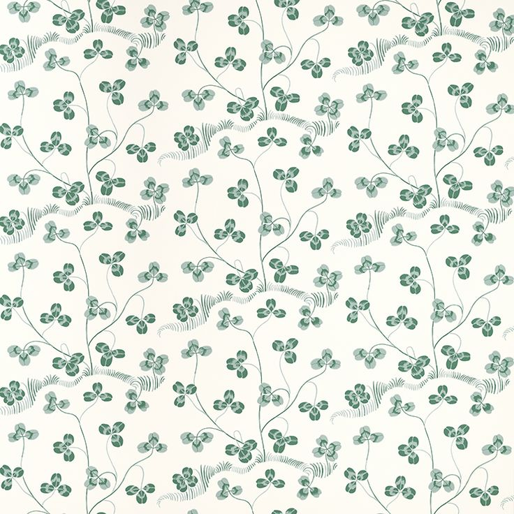 Wallpaper Klöverblad (Clover Leaf) - Absolutely love these Scandinavian vintage wallpaper designs from the 1930s and '40s. This one is by Josef Frank, an Austrian architect, artist and designer who fled to Sweden to escape Nazism. He is considered one of Sweden's most important designers.