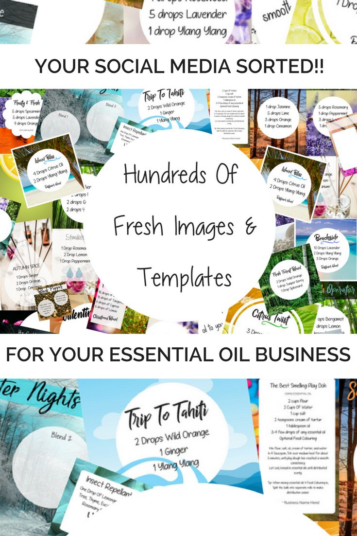 Access to hundreds of custom images for your essential oil business. Great for a DoTERRA or Young Living business.
