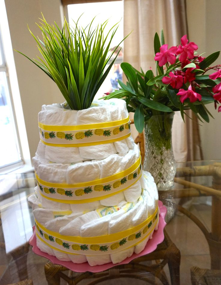 Tropical Pineapple Baby Shower | Brunch Shower | Party | Pineapple Diaper Cake