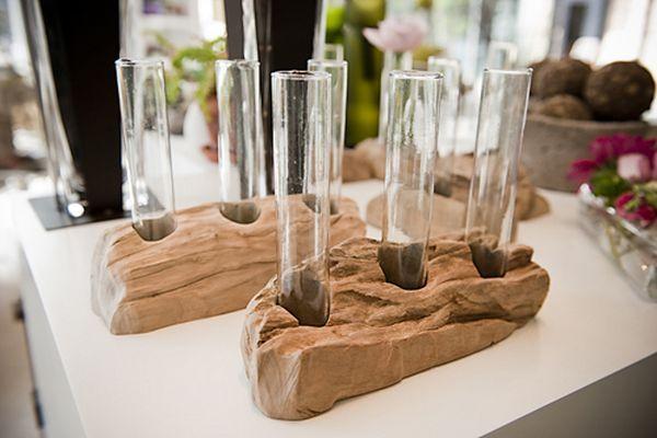 Idées de déco avec des vases en tubes à essai | BricoBistro