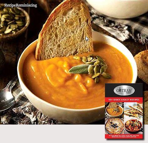 Curried Butternut Squash and Pear Soup / Karrikrydret Butternut Gresskar- og Pære Suppe