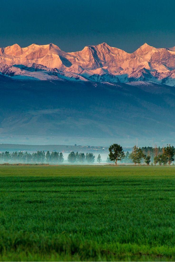 Tien Shan Mountains in Xinjiang by rui cheng Central Asia