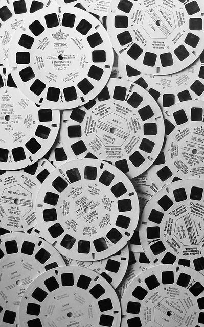 Viewmaster Slides- imagine the fun of having all these to add in various ways to your smash books, etc!