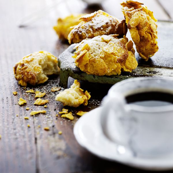 Småkager med mascarpone og cornflakes