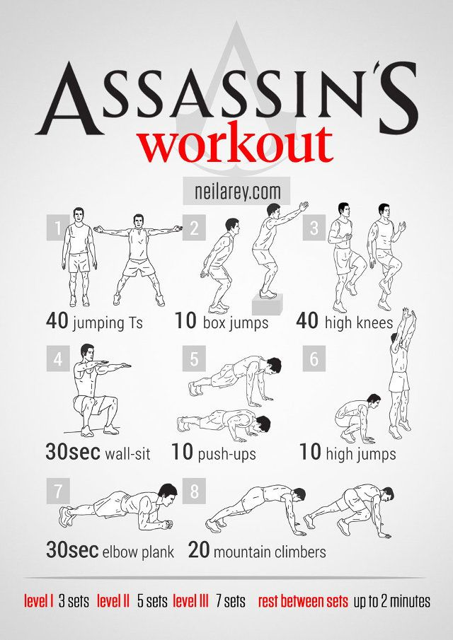 Superhero / Movie / Video Game themed workouts