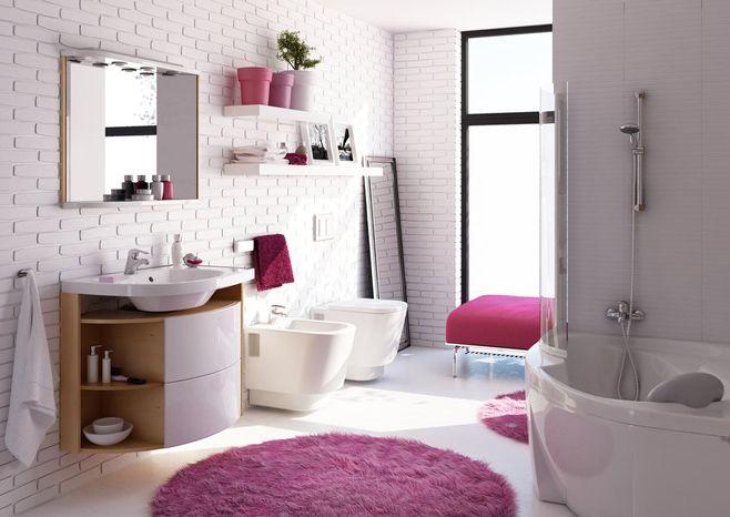 розовая ванная фото