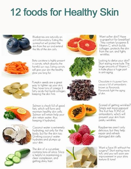 12 foods for Healthy skin ...eat your cucumber skin & pass the papaya