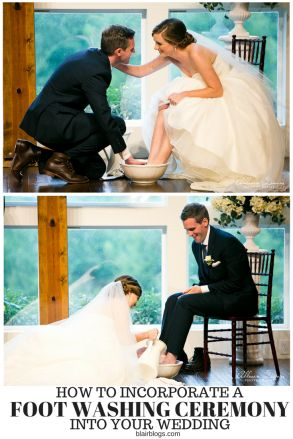 How We Incorporated Foot Washing Into Our Wedding Ceremony (With Video) | Blair Blogs