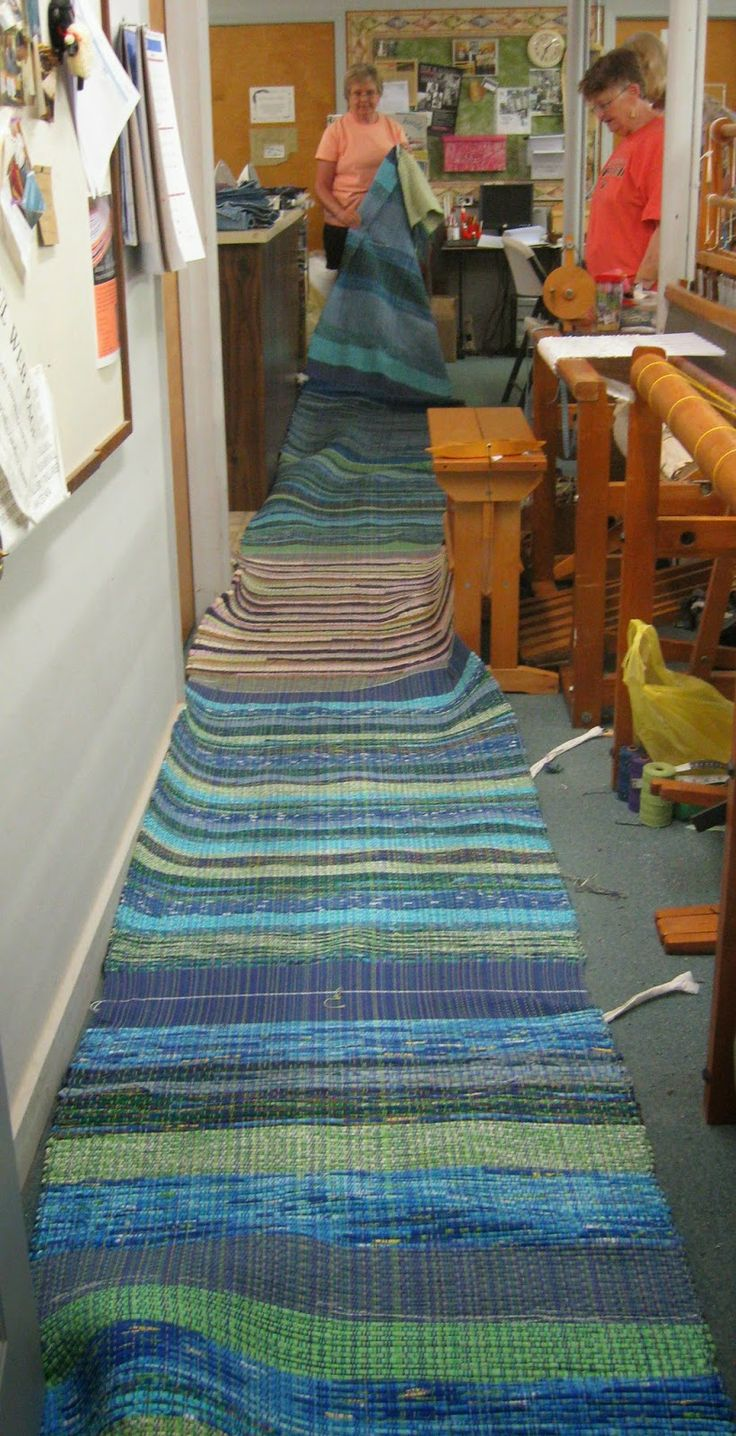 Loomy Tunes, 10 rugs just taken off the loom. How exciting that must be!