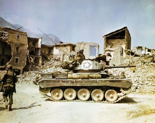 M-24 Chaffee Tank in Italy