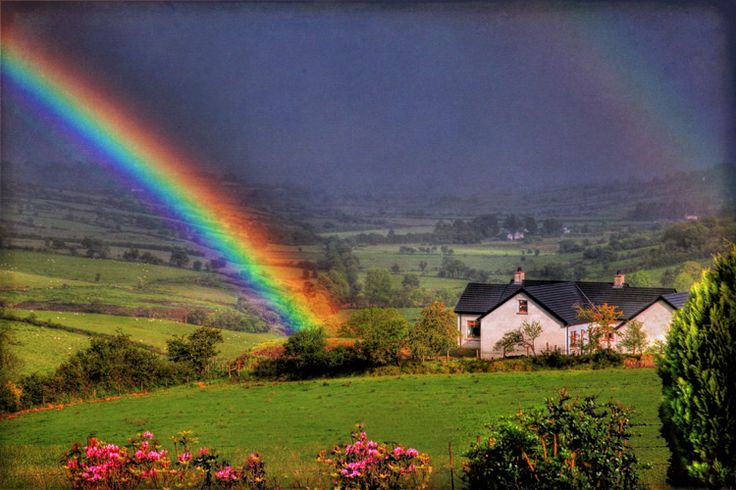 Rainbow at Fallagh..in the County of Tyrone ~ Northern Ireland