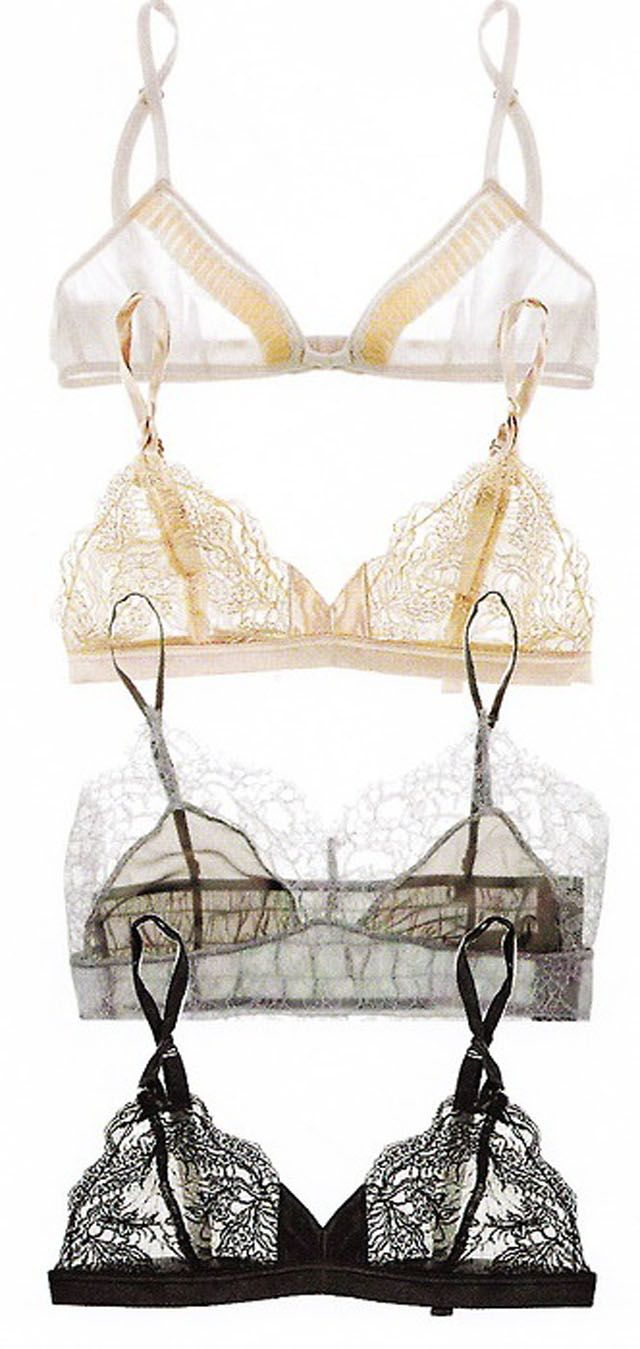 project 22: DIY BRALETTE >> beautiful and with all the new lace patterns being sold this would be fun