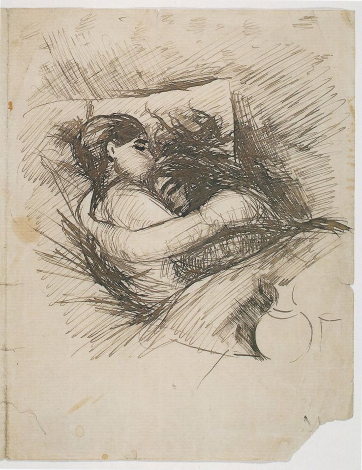 Man and Woman in Bed (Saint Cloud) 1890 Edvard Munch