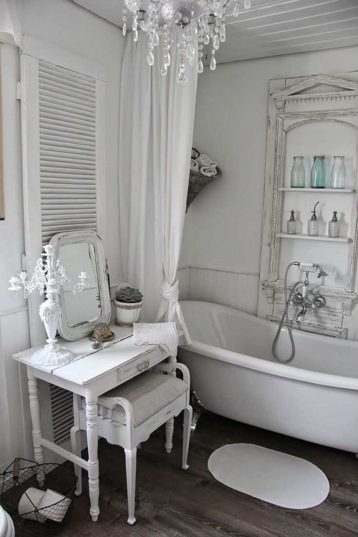 616 best shabby chic bathrooms images on pinterest. Black Bedroom Furniture Sets. Home Design Ideas